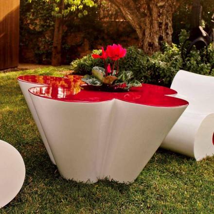 Mesa de diseño Vondom Agatha para exterior en polietileno coloreado