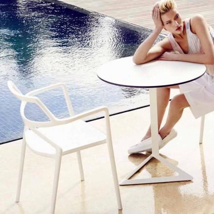 Vondom Delta silla de jardín moderna de polipropileno de diseño, 4 piezas