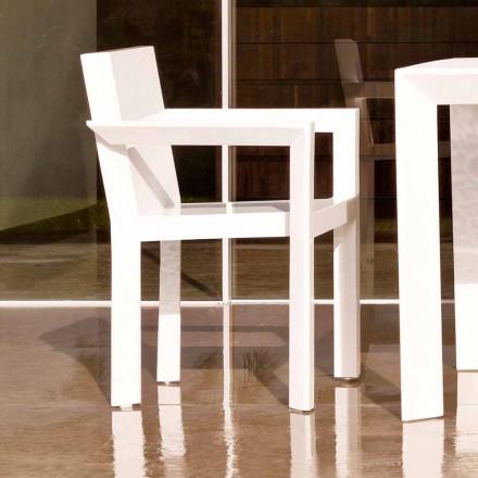Vondom Estructura de silla de jardín con reposabrazos en resina de polietileno
