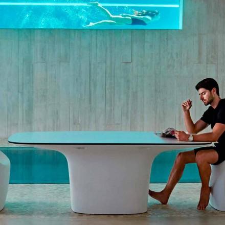 Mesa exterior de diseño Vondom Ufo blanco L200xP100 cm